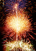4th July Metal Prints - Fireworks_1591 Metal Print by Michael Peychich