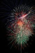4th July Digital Art Posters - Fireworks6504 Poster by Gary Gingrich Galleries