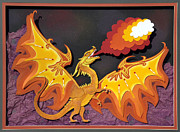 Fantasy Sculpture Originals - Firey Dragon by John Hebb