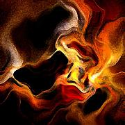 Featured Digital Art - Firey by Ruth Palmer