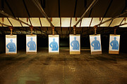 Targets Metal Prints - Firing Range Metal Print by Skip Nall
