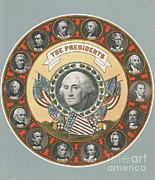 Thomas Jefferson Prints - First 15 U.s. Presidents Print by Photo Researchers