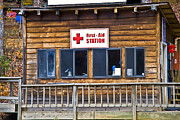 Susan Leggett Metal Prints - First Aid Station Metal Print by Susan Leggett