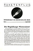Announcement Posters - First Announcement Of First Manned Rocket Poster by Detlev Van Ravenswaay