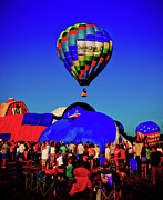 Balloon Fest Framed Prints - First Ascension Framed Print by David Hahn