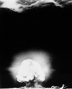 Alamos Photo Posters - First Atomic Explosion, Los Alamos Poster by Los Alamos National Laboratory