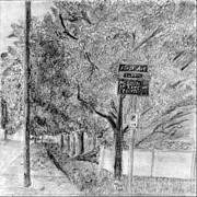 Fence Pole Drawings - First Avenue by Elizabeth Heart