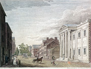 Philadelphia Street Framed Prints - First Bank Of U.s., 1798 Framed Print by Granger