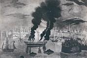 First Barbary War 1801-1805. Burning Print by Everett