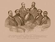 Black History Mixed Media - First Colored Senator And Representatives by War Is Hell Store