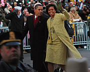 Barack Obama Photo Prints - First Couple Walking Print by Charlie Parker
