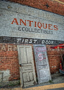 Antique Store Prints - First Door Antiques Print by Pamela Baker