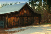 Old Barns Digital Art - First Dusting of Snow by Ross Powell