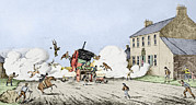 Automobile Artwork. Prints - First Fatal Automobile Accident, 1834 Print by Sheila Terry