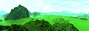 Art Product Art - First Green Panoramadigitally Generated by Raj Kamal