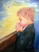 Religious Art Painting Prints - First Holy Communion Print by Dave Manning