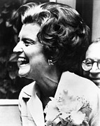 First Lady Photo Framed Prints - First Lady Betty Ford's Campaigning Framed Print by Everett