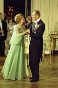 Ballroom Posters - First Lady Betty Ford And Prince Philip Poster by Everett