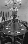 Cabinet Room Prints - First Lady Betty Ford Dances Print by Everett