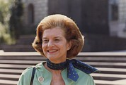 First Ladies Prints - First Lady Betty Ford In Helsinki Print by Everett