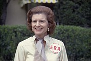 Betty Ford Prints - First Lady Betty Ford Sports A Button Print by Everett