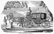 First Lady Photo Framed Prints - First Lady Carriage, 1851 Framed Print by Granger