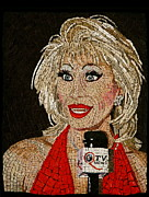 Mosaic Mixed Media Originals - First Lady Donna Sachet by Michael Kruzich