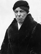 Candid Portraits Prints - First Lady Eleanor Roosevelt Print by Everett