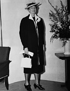 Candid Portraits Prints - First Lady Eleanor Roosevelt, Wearing Print by Everett