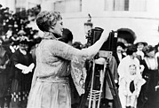First Lady Photo Framed Prints - First Lady Florence Harding, Wife Framed Print by Everett