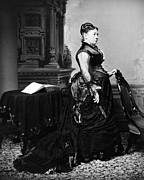 1870s Fashion Posters - First Lady Julia Dent Grant, Wife Poster by Everett