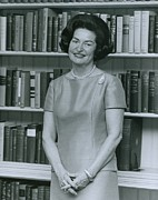 Hair Styles Posters - First Lady, Lady Bird Johnson, In 1964 Poster by Everett