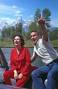 Claudia Posters - First Lady, Lady Bird Johnson, Rafting Poster by Everett