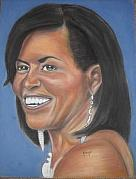 Obama Pastels - First Lady Michelle Obama by Bernell  Heard