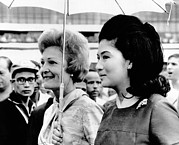 First Lady Art - First Lady Pat Nixon Left And Imelda by Everett