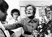 First Lady Art - First Lady Pat Nixon Visiting Detroit by Everett
