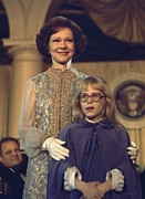 First-family Posters - First Lady Rosalynn Carter And 10 Year Poster by Everett