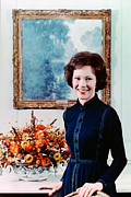 First Lady Framed Prints - First Lady Rosalynn Carter  Official Framed Print by Everett