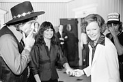 First Lady Acrylic Prints - First Lady Rosalynn Carter With Waylon Acrylic Print by Everett