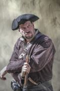 Reenactment Art - First Line of Defense The Frontiersman by Randy Steele