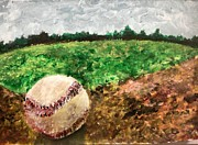 Baseball Paint Paintings - First Love by Giselle Rivas