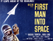 1959 Movies Photo Posters - First Man Into Space, 1959 Poster by Everett