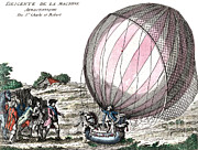 Jacques Art - First Manned Hydrogen Balloon Flight by Photo Researchers