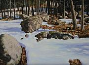 Impressionistic Landscape Paintings - First Melt by Michael Vires