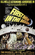 1960s Poster Art Posters - First Men In The Moon, Edward Judd Poster by Everett