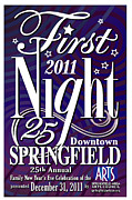 Jane Bucci Art - First Night Springfield Poster by Jane Bucci