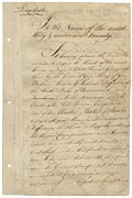 Documents Posters - First Page Of Treaty Of Paris 1783. It Poster by Everett