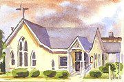 Sunlit Paintings - First Presbyterian Church Ironton Missouri by Kip DeVore
