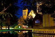 Refection Prints - First Presbyterian From Kleinhans Print by Don Nieman