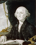 Us Presidents Framed Prints - First President of The United States of America - George Washington Framed Print by International  Images